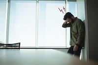Deprimeret mand
