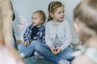 Barn sammen og meslinger